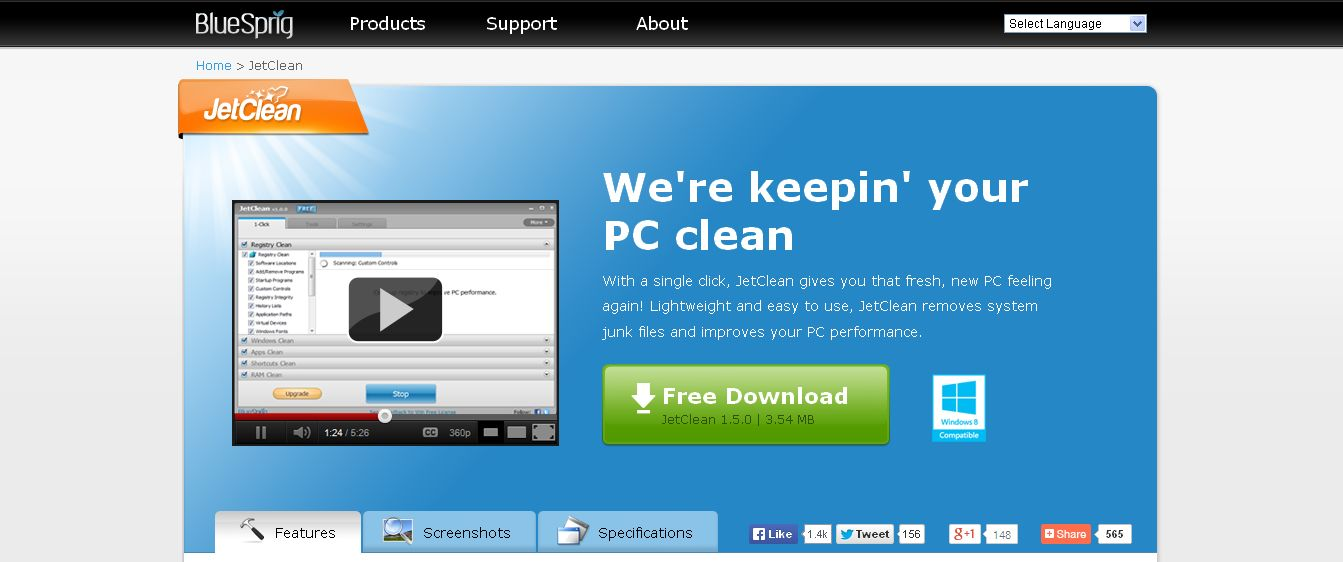 JetClean I Improve PC Performance and Protect Your Privacy, Free Download