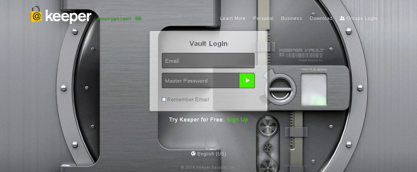 Keeper - Password vault and online file storage