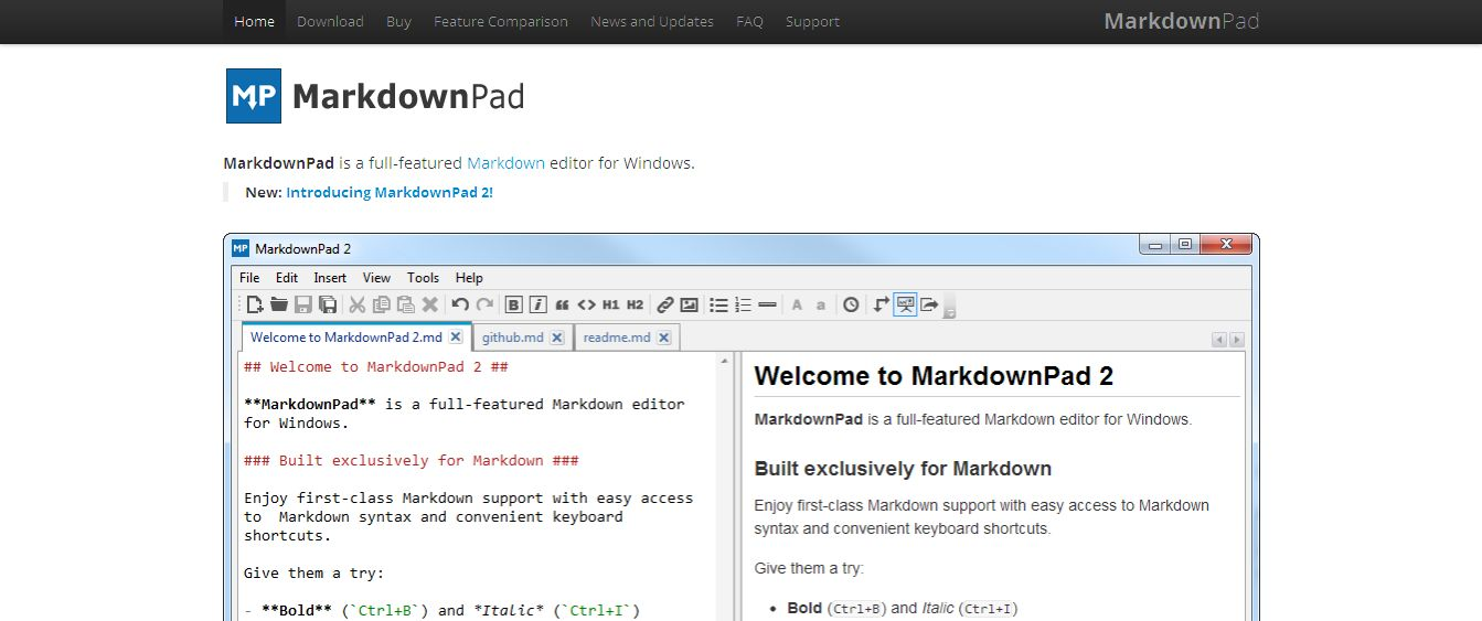 MarkdownPad - The Markdown Editor for Windows