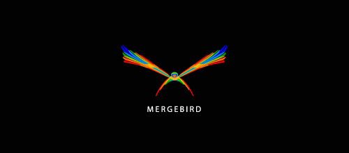 Multicolor Logo Designs Merge Bird