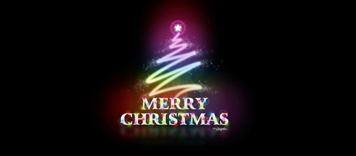 Multicolor Logo Designs Merry Christmas