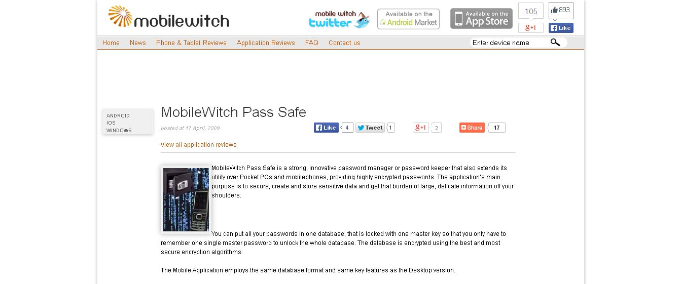 MobileWitch Pass Safe - Software - MobileWitch_com