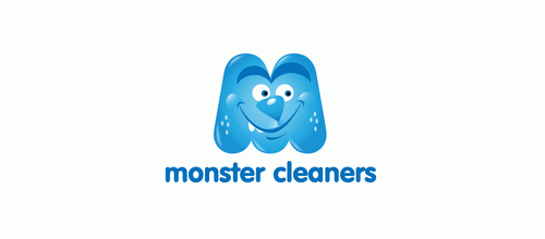 logo design Monster Cleaners