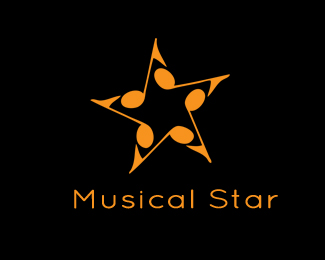 Musical Star Logo Design