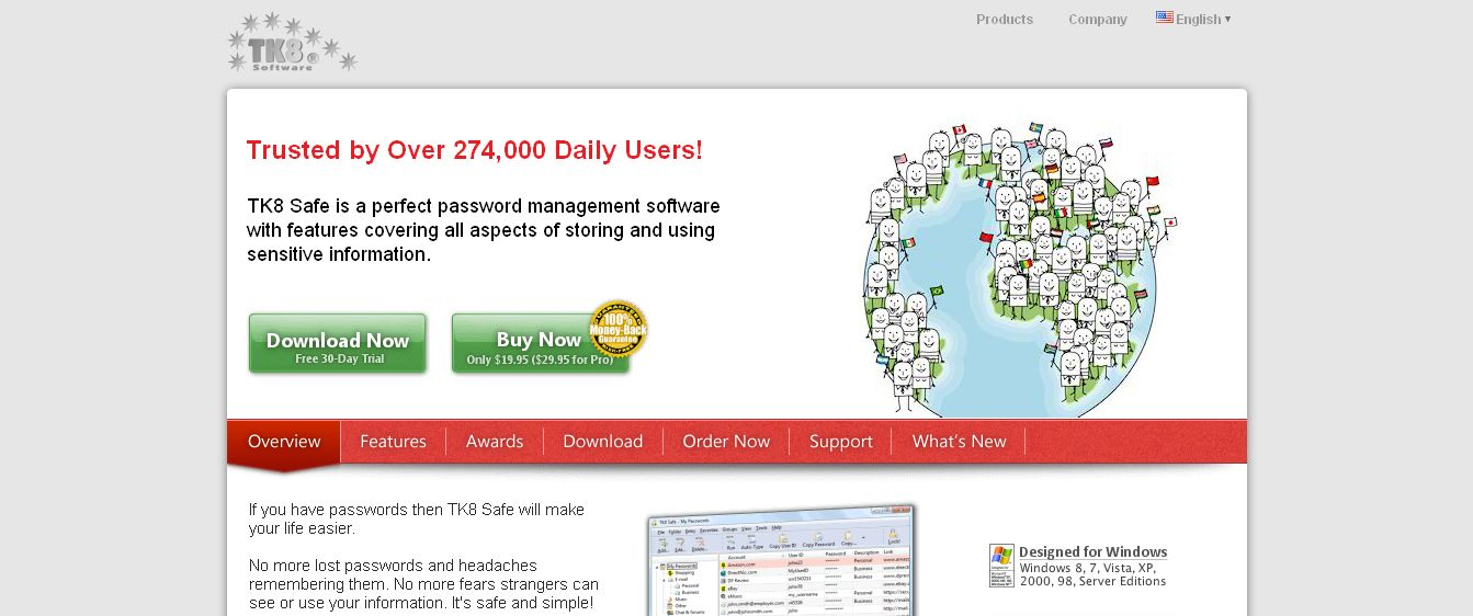 Password Manager - software to keep your passwords securely