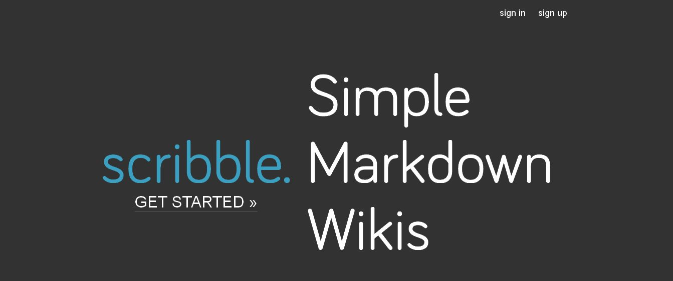 Scribble - Simple Markdown Wiki