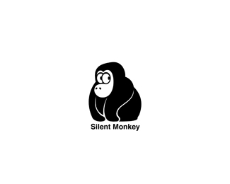 Silent Monkey Beautiful Animal and Pet Logo Designs