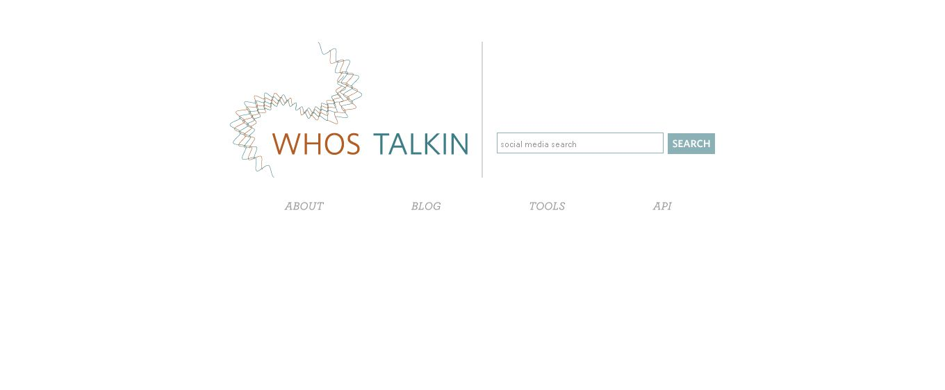 Social Media Search Tool I WhosTalkin
