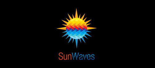 Multicolor Logo Designs Sun Waves