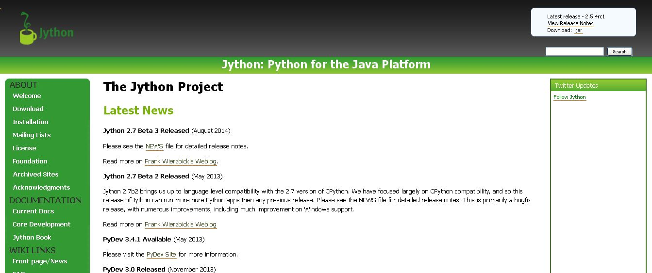 The Jython Project