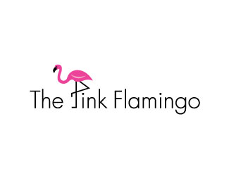 The Pink Flamingo Beautiful Animal and Pet Logo Designs