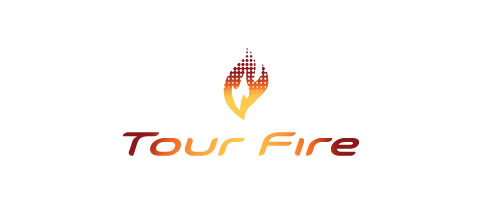 Hot Burning And Fire Logo Design Tour Fire