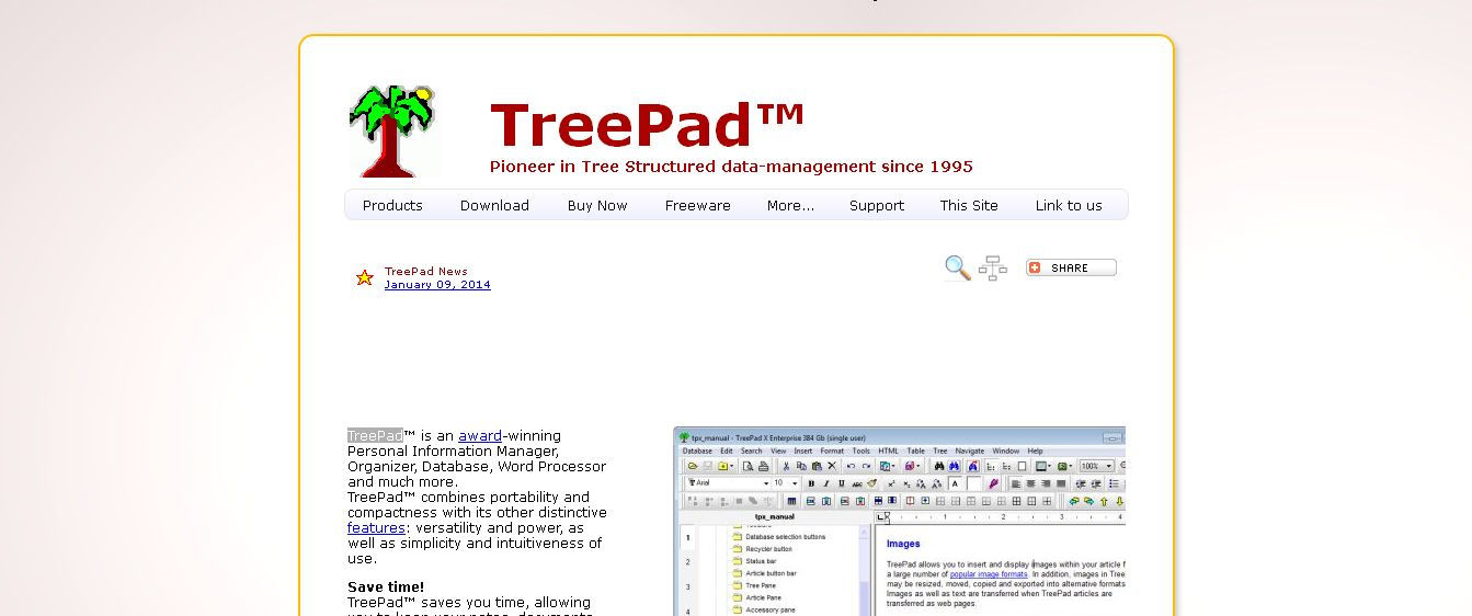 Treepad_ Personal Information Manager, Notes Organizer, Word Processor, PIM, Database and more