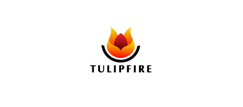 Hot Burning And Fire Logo Design Tulip Fire