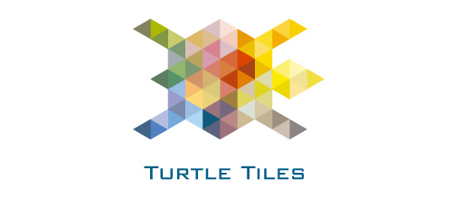 Multicolor Logo Designs Turtle Tiles