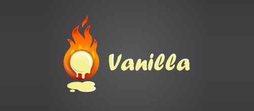 Hot Burning And Fire Logo Design Vanilla