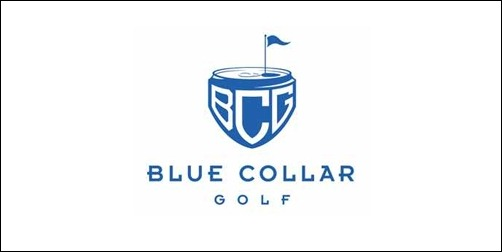 blue collar golf thumb Unique and Creative Golf Logo Designs