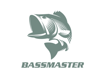 Logo Bassmaster Fish Design