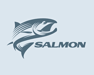Salmon Fish Logo Design