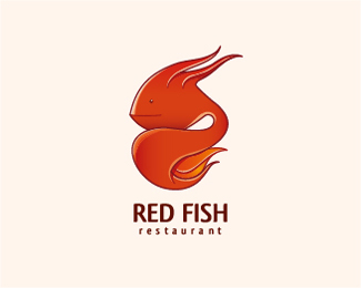 Red Fish Logo Design