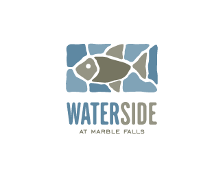 Waterside Fish Logo Design