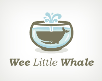 Wee Little Whale Fish Logo Design