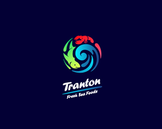 Tranton Sea Food Fish Logo Design