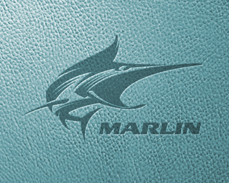 Marlin Fish Logo Design