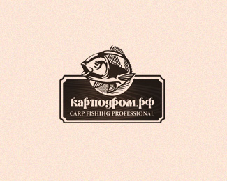 Karpodrom Fish Logo Design