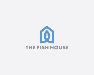 The Fish House Fish Logo Design
