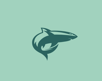 Shark Fish Logo Design