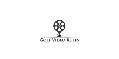 golf video rules thumb Unique and Creative Golf Logo Designs