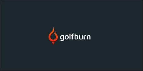 golfburn thumb Unique and Creative Golf Logo Designs