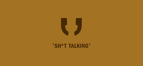 Punctuation Mark Logo Designs Sh*t Talking