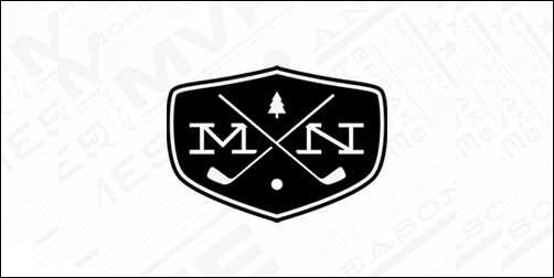 mn golf club thumb Unique and Creative Golf Logo Designs