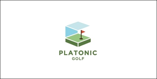 platonic golf thumb Unique and Creative Golf Logo Designs