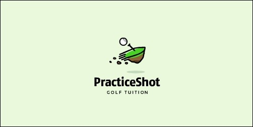 practice shot golf tuition thumb Unique and Creative Golf Logo Designs