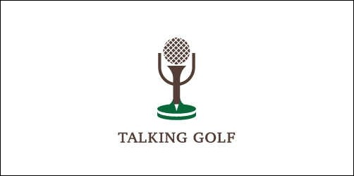 talking golf thumb Unique and Creative Golf Logo Designs