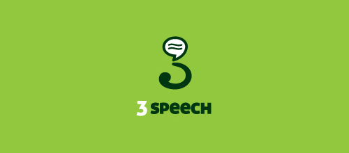 3 Speech logo designs