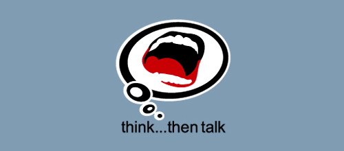 think...then talk logo designs