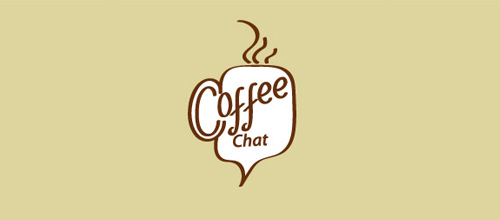 Coffee Chat logo designs