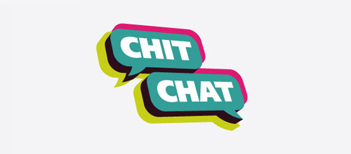 Chit Chat logo designs