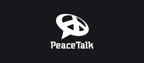 peacetalk logo designs