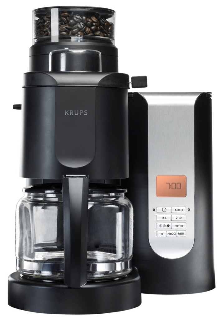 71nnm7M4I7L._SL1500_KRUPS KM7005 Grind and Brew Coffee Maker with Stainless Steel Conical Burr Grinder, 10-cup, Black