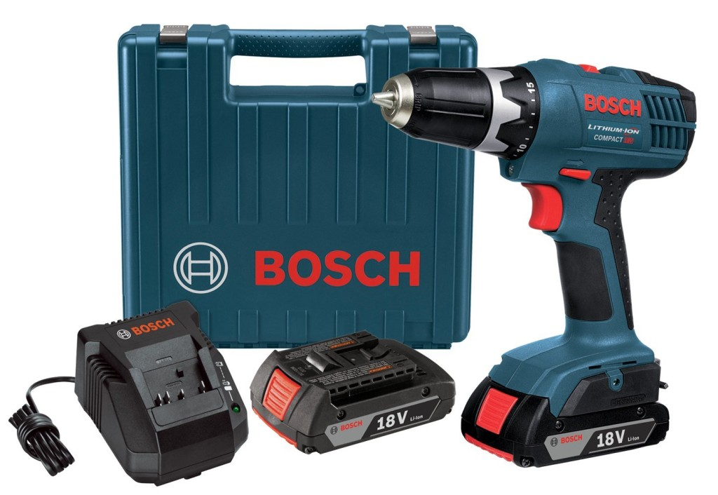 Bosch DDB180-02 18-Volt Lithium-Ion Cordless Drill Driver Kit with 2 Batteries Charger and Case