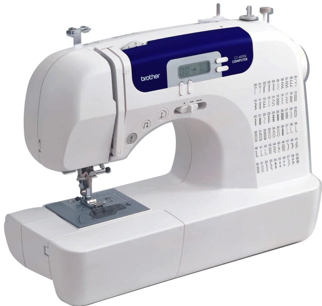 Brother CS6000i Feature-Rich Sewing Machine With 60 Built-In Stitches, 7 styles of 1-Step Auto-Size Buttonholes, Quilting Table, and Hard Cover
