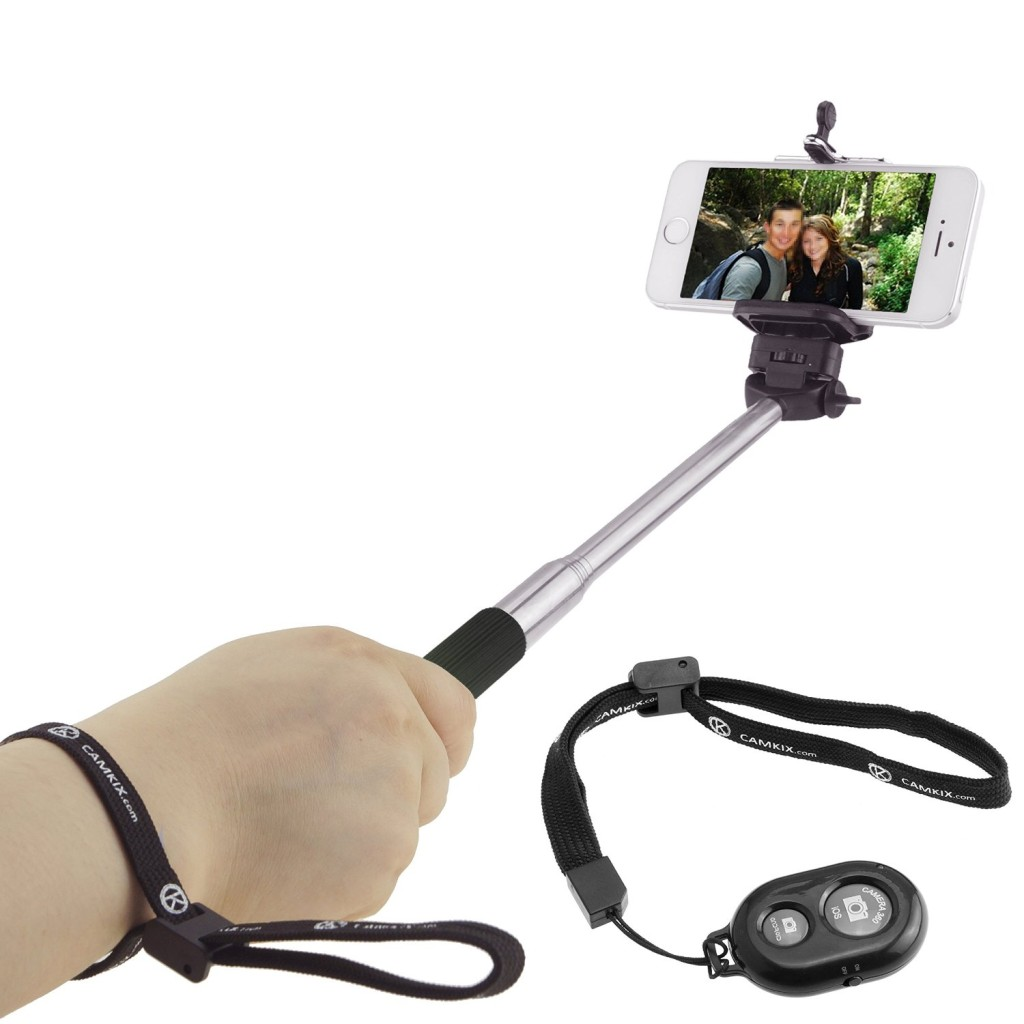 Extendable Selfie Stick with Bluetooth Remote by CamKix