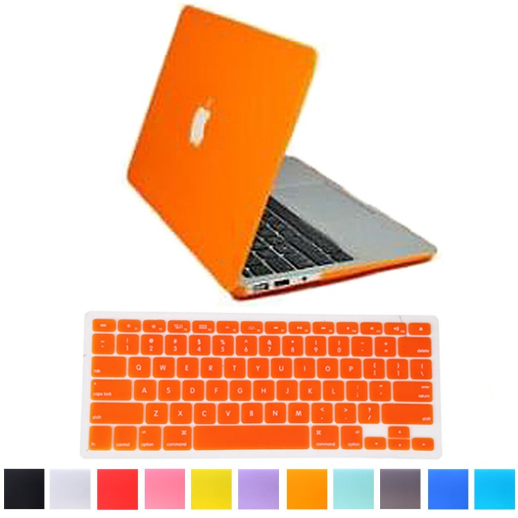 HDE Matte Hard Shell Clip Snap-on Case + Matching Keyboard Skin for MacBook Pro 13
