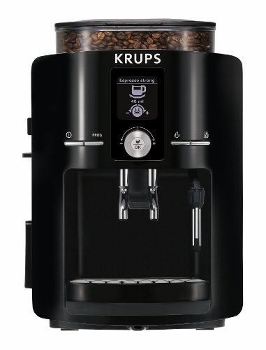 KRUPS EA8250 Espresseria Fully Automatic Espresso Machine with Built-in Conical Burr Grinder, Black