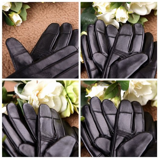 Luxury Men's Touchscreentexting Winter Italian Nappa Leather Gloves